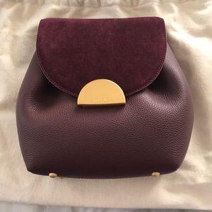Polene Burgundy Un Mini Bag